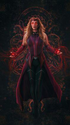 Marvel Dc, Wanda Marvel, Marvel Avengers Movies, Marvel Women, Marvel Girls, Marvel Heroes, Scarlet Witch Avengers, Marvel Images, Marvel Background