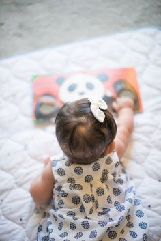 Aww - sweet photo for a child's favorite toy or book