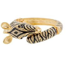 Enameled Zebra Bangle (2,875 PHP) found on Polyvore