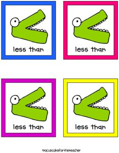 Number sense - greater/less than