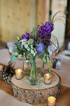 Dried lavender centerpieces rustic country decor pinterest gorgeous devils thumb ranch mountain wedding in tabernash co with charming rustic details and lovely diy projects junglespirit Choice Image