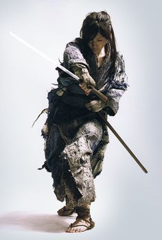 samurai girl lady move pose position blade sword Ichi Haruka Ayase Samurai Blind Japanese Japanese cinema