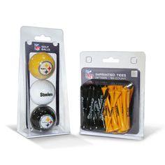 Pittsburgh Steelers 3 Ball Pack and 50 Tee Pack #PittsburghSteelers