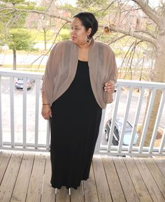 Personal Stye | Black Maxi Dress & Sheer Cardigan