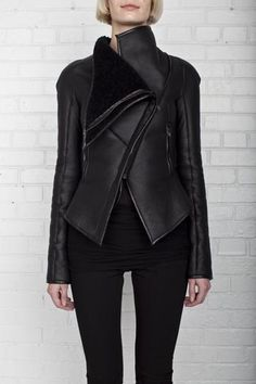 Gareth pugh asyemmetic sjhearling jacket