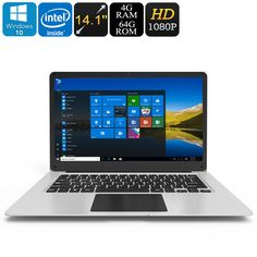 Jumper EZbook 3 Windows 10 Laptop - Apollo Lake CPU, 14.1-Inch Full-HD Display, HDMI Out, 10000mAh, 4GB DDR3L RAM, 64GB Storage - The Jumper EZbook 3 is a Windows 10 Laptop that features the new Apollo Lake CPU, making it one of the fastest laptops on the market.