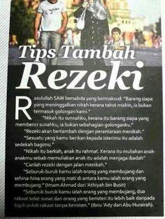 tips tambah #rezeki ; via: https://fb.me/inpursuitofjannah