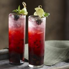 Low cal. From Oprah's A Better Buzz - Blackberry Mint Mojito