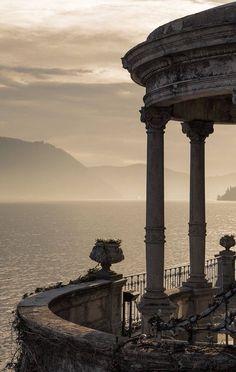 Terrace on Lake Como.