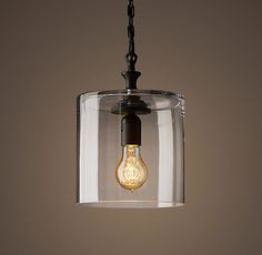 Mason Glass Jar Filament Pendant