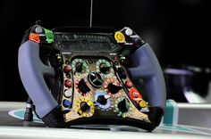 Mercedes AMG F1 W03 steering wheel.