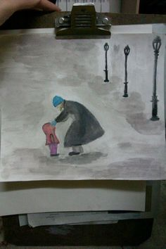 mother and child- water color- shivart