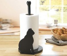 Paper Towel Holder Black Cat | Crazy Cat Lady Clothing