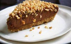Cheesecake de chocolate e avelãs
