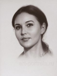 Drawing Portraits - Portrait of Monica Bellucci by Igor Kazarin (drawing-portraits) Discover The Secrets Of Drawing Realistic Pencil Portraits.Let Me Show You How You Too Can Draw Realistic Pencil Portraits With My Truly Step-by-Step Guide. Portrait Sketches, Pencil Portrait, Female Portrait, Drawing Portraits, Woman Portrait, Oil Portrait, Monica Bellucci, Pencil Drawings, Art Drawings