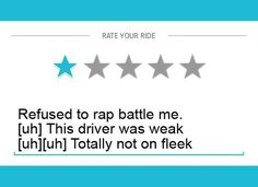 These one star Uber driver reviews are so hilarious that you won't know whether you should laugh or cry. One thing is certain, though... Poor Uber drivers!  #Funny #Uber #Reviews #Viralogist #Humor