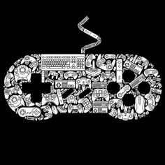 This graphic for RIPT Apparel is a video game controller made up of video game controllers. It can be found Here RIPT Tees Video Game Controller Graphic Tattoo Geek, Gamer Tattoos, Gamer T Shirt, Geek Shirts, Gaming Wallpapers, Game Controller, Video Game Art, Videogames, Nerdy