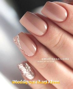 35 Simple Ideas for Wedding Nails Design 1 #nailartideas #wedding