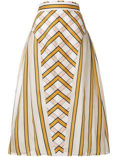 Fendi flared striped skirt