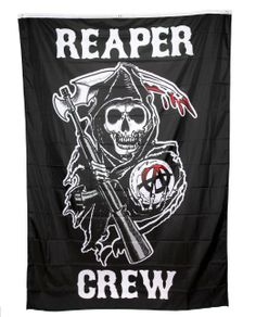 Amazon.com: Sons of Anarchy Reaper Crew Banner: Clothing