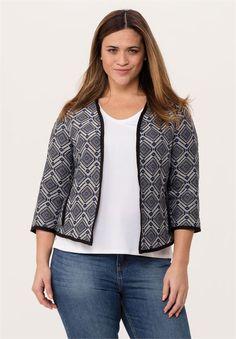 Open Jacquard Jacket | Jackets & Blazers | Ellos®