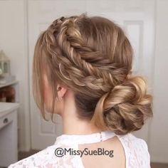 Pretty Hairstyles, Easy Hairstyles, Hairstyles Videos, Prom Hairstyles, Little Girl Wedding Hairstyles, Unique Braided Hairstyles, Bridal Hairstyles With Braids, Unique Braids, Updos