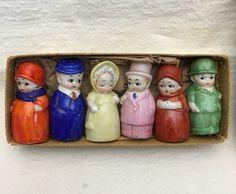 Vintage NEW NOS GERMAN Little People/Couples Men/Women SALT & PEPPER Shakers Box #IndividualSaltandPeppers