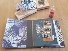 Telling Scrapbooking Birthday Album Photo Scrapbooking, Mini Albums Scrapbook, Birthday Scrapbook, Scrapbooking Layouts, Mix Media, Diy Photo, Recipe Scrapbook, Create A Family, Travelers Notebook