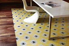 Kilim Weave Pilgrim - Polenta/Fog/Slate - Latitude Collection - Armadillo&Co Rugs - The Ivy House