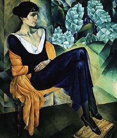 Ахматова - Портрет работы Н.И.Альтмана 1914 РМ