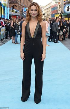Looking good: Kara Tointon nailed red carpet glamour when she attended she stepped out at the Entourage premiere in Leicester Square on Tuesday evenin