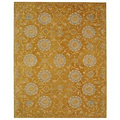 Safavieh Anatolia Collection AN537C Handmade Traditional Oriental Gold and Blue Wool Area Rug (5' x 8')
