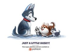 Daily 1357. Just a little husky! by Cryptid-Creations.deviantart.com on @DeviantArt