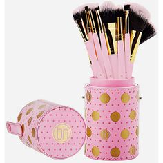 Bh Cosmetics 11 Piece Dot Collection Makeup Brush Set ($22) ❤ liked on Polyvore featuring beauty products, makeup, makeup tools, makeup brushes, fan brush, slanted makeup brush, fan makeup brush, bhcosmetics and angled makeup brush