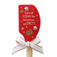 Eat Well Silicone Spatula #food #kitchen #spoons #accessories #cute #home #decor #fun #brownlowgifts #brownlow #eat #eatwell