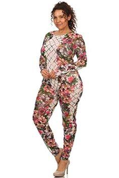 Plus Size Floral Mesh Long Sleeve Jumpsuit - 1X Fifth Degree https://www.amazon.com/dp/B01M2A5AP5/ref=cm_sw_r_pi_dp_x_hcPeybQ00WCHK