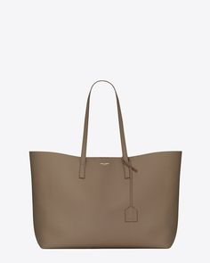 saint laurent large shopping tote bag ( taupe leather )
