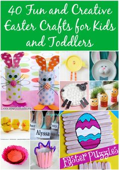 58 Fun and Creative Easter Crafts for Kids and Toddlers - DIY & Crafts Kids Crafts craft kids for kids diy Diy And Crafts Sewing, Fun Diy Crafts, Crafts For Kids To Make, Crafts For Girls, Easter Crafts For Kids, Toddler Crafts, Crafts To Sell, Kids Diy, Crafts Toddlers