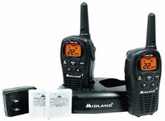 a new midland lxt500vp3 22 channel gmrs 24 mile range two way radio walkie talkies