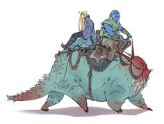 have some w.i.t.c.h. Vathek & Cedric riding some monster creature they have mondays too…