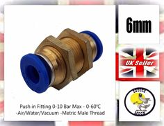 10X Air Water Hose Tube Fittings Adapter PC-C4-M5 Pneumatic Push In Kit