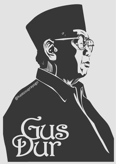 Gus Dur by astayoga on DeviantArt Art Inspiration Drawing, Illustrations And Posters, Caricature, Art Sketches, Vector Art, Pop Art, Drawing Reference, Deviantart, Cartoon