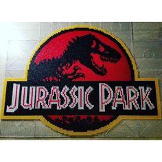 Jurassic Park hama perler beads by therealsarasvensson