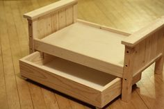 Ana White Ana White Doll Bed And Trundle Diy Projects American Girl Furniture, American Girl Doll Bed, Girls Furniture, Diy Furniture Plans, Barbie Furniture, Upholstered Furniture, Dollhouse Furniture, American Girls, Diy Dollhouse