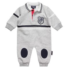 Baby Boys Grey Jersey Romper - Babysuits - Baby | Childrensalon