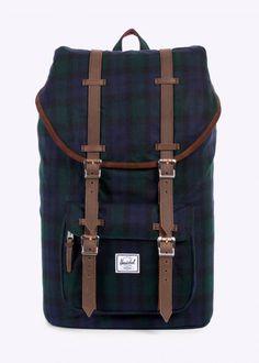 Herschel Supply Co. Little America Backpack - Black Watch Plaid