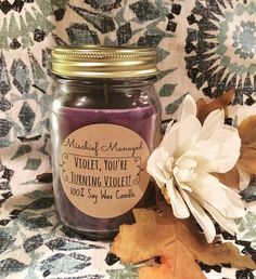 $10 for 16 oz. hand poured soy candle! Oompa Loompa doompety do I've got another candle for you Oompa Loompa doompety Dee Are you wondering what this one will be? What do you get when you mix blueberry & sweets? Something that smells so good you will want to eat. If I were you I'd get one today Before they sell out & it becomes too late I bet you don't like the sound of that!