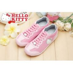 Helle Kitty Lady's Comfy Casual Sneakers Shoes Pink Sanrio #910798