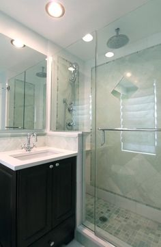 Small Master Bathroom Remodel Design, Pictures, Remodel, Decor and Ideas Bad Inspiration, Bathroom Inspiration, Bathroom Ideas, Bath Ideas, Bathroom Pictures, Bathroom Designs, Small Master Bath, Master Bathroom, Downstairs Bathroom