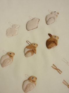 ♒ Enchanting Embroidery ♒ stumpwork bunnies